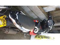49cc kymco scooter 2016 blue/white