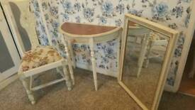 Dressing Table mirror and chair matching