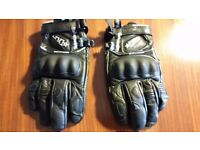 Two pairs of womens Halversson Motorcycle gloves size 7 (Winter and Summer)