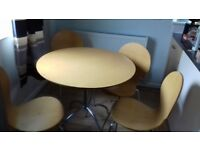 Wooden 4 seater table and chairs