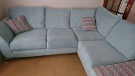 Corner sofa chair and foot stool