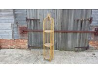 Tall Bamboo and Rattan Plant Stand LEWES COLLECTION