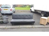 Black leather bed settee in very good condition £85