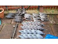 Selling 36 pigeon decoys and 8 crow and a rotary machine