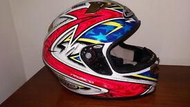 KBC VR-2 Full Face Helmet Dragon Chrome - Multi - Medium + Protective Soft Bag
