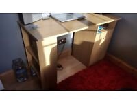 Desk with shelves a drawers