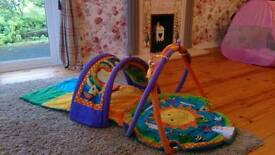 Music and lights playmat activity centre and tunnel