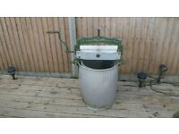 ANTIQUE MANGLE AND WASH TUB
