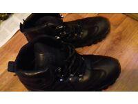 Black walking boots
