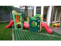 Little tikes outdoor play Centre with 2 x slides