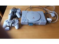 PS1 with Crash Team Racing game