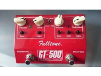 Fulltone GT-500 Overdrive/Boost/Distortion Pedal.