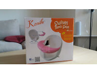Karibu Swivel Baby Bath Seat 360 Degree with Removable Front Bar Pink