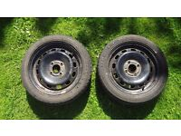 Ford Fiesta Winter Tires with Rims (1 pair)