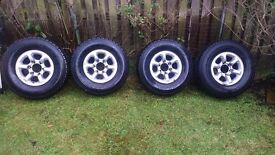 Pajero tires and rims R15 X 4