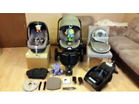 Quinny Moodd Pushchair Stroller Includes Maxi Cosi Pebble Car Seat, Easy Base 2 & More