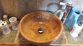 Brand New / Un-used Bathroom Sink - Beautiful natural stone bathroom basin / sink