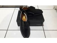 Brand new black lace up mens shoes size 8