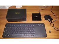 X96 smart tv box with keyboardtrackpad