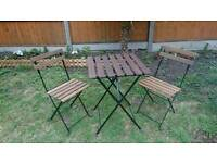 IKEA TARNO Folding Garden Table and two chairs outdoor garden set
