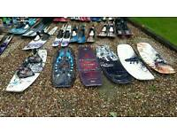 Waterskis, Wakeboards, Monoskis, and kneeboards