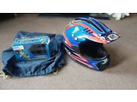 Motorcross helmet and goggles in excellent as new condition. LEM Helmet.