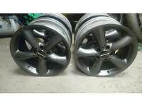 Genuine Mercedes staggered alloys 5x112