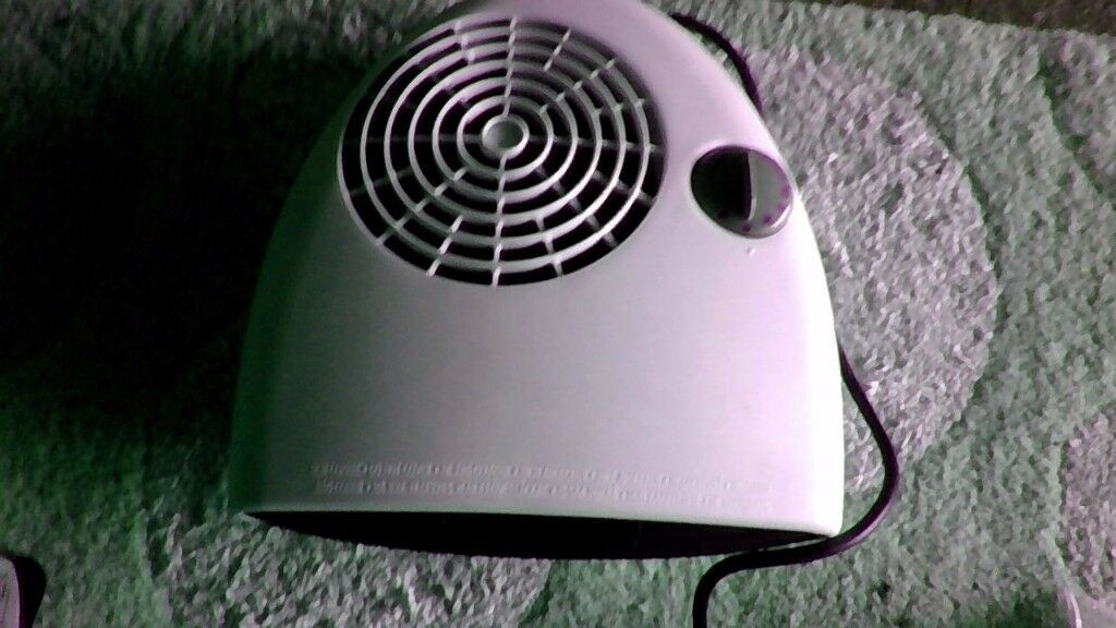White Two Heat Settings Fan Heater
