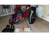 2x golf bags clubs and academies