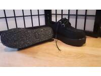 Shoes creepers size 7 black faux suede