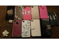 11 x iphone 4 /4s phone cases used