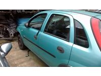 VAUXHALL CORSA C 998CC PETROL BREAKING FOR PARTS