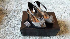 Grey stilettos