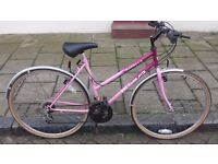 """ladies capella hybrid bike 18"""" frame 700c wheels with new tyres 18 shimano gears"""
