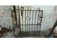 Metal iron garden driveway gates