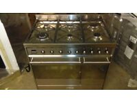 SMEG 90 cm Dual Fuel Range Cooker - Stainless Steel