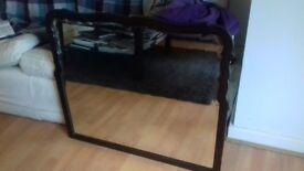 Beautiful rustic hard wood framed mirror