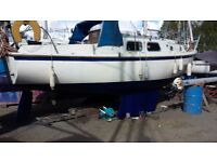 Westerly Centaur sailing yacht family cruiser, deepwater mooring available extra cost