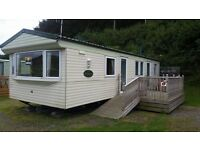 3 bedroom caravan in clarach bay holiday park.