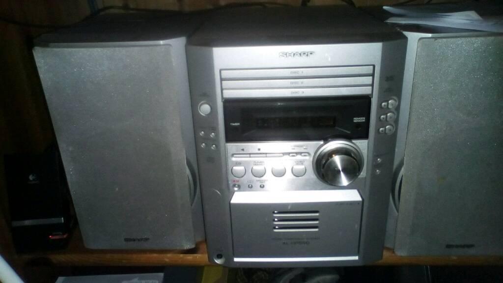 Sharp multi disc midi system...nice sound
