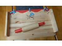 Kids Pastry Board with Rolling pin