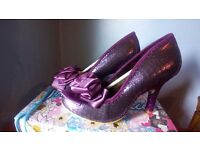 Ladies Irregular Choice Purple Ascot size 41/7