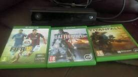 Xbox one Kinect & 3 games