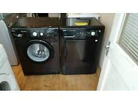 Black beko washing machine and condensor dryer