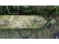 Sandstone gate posts and coping stones. Price reduced now £210.00