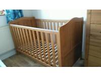 Pine Cot bed origanally bought from mothercare