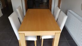 Table and 4 chairs from Next