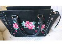 suede/leather Rose handbag