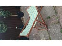 2 x matching deckchairs