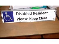 Disabled residents parking sign for outside your home, just £10